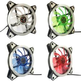 pc вентилятор 12v Скидка 120 мм LED ультра бесшумный компьютер PC Case вентилятор 15 светодиодов 12 В с резиновым тихим Molex разъем легко установить вентиляторы