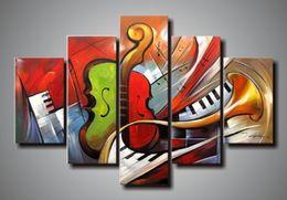 100% handgemalte riesige moderne abstrakte Musik Gemälde Acrylfarbe für Leinwand Art Deco Gemälde Verkauf Wohnzimmer Dekoration von Fabrikanten