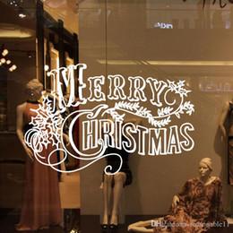 papel fotográfico em fibra Desconto Adesivos de Parede de natal Decoração sala de estar quarto janela de vidro adesivos de parede adesivos removíveis Vermelho Preto Branco Carta