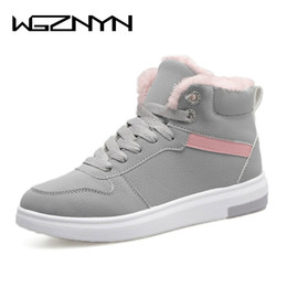 Wholesale Shoes Sneakers Shape Ups - WGZNYN 2017 Women Winter Boots Warm Platform Snow Ankle Boots Women Casual Shoes Round Toe Sneakers Female Botas Mujer #0402