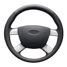 Deutschland Auto Lenkrad Geflecht für Ford Kuga 2008-2011 Focus 2 2005-2011 C-MAX 2007-2010 / Nach Maß Leder Lenkradabdeckung cheap ford focus steering wheel cover Versorgung
