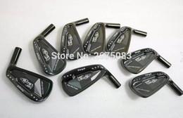 draghi di ferro Sconti Golf club TourOK Danza con ferro forgiato Dragon Set nero Golf ferri forgiati 3-9PW Testa senza albero