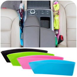Wholesale Automotive Organizers - 6 colors car seat gap garbage box automotive Cell phone Storage box Compressible sundries box T3I0148
