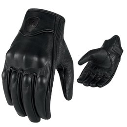 Men Retro Motorcycle Gloves Breathable Perforated Real Leather Motor Motocross Motorbike Gloves Luva Motoqueiro Guantes Moto cheap motorcycle gloves for men от Поставщики мотоциклетные перчатки для мужчин