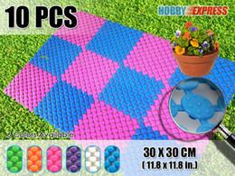 Пластиковые напольные покрытия онлайн-New 10 pcs Indoor / Outdoor Circle Pattern Plastic Floor Tile 30 x 30 cm Home Decor KK1129 6 Colors