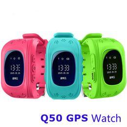 Wholesale Gps Gsm Gprs Watch - Smart Watch Children Kids Wristwatch Q50 GSM GPRS GPS Locator Tracker Anti-Lost Smartwatch Child Guard For iOS Android