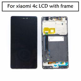 2019 оптовые телефоны для повышения Для Xiaomi 4C Mi4C M4C LCD с рамкой дисплей и сенсорный экран Digitizer замена телефона черный цвет бесплатная доставка + инструменты