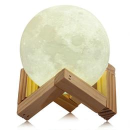 Grande qualità 8 centimetri 15CM ricaricabile stampa 3D Moon Night Light Lampada bianca luce gialla Touch Switch per la decorazione camera da letto di casa da lampada di luna gialla fornitori