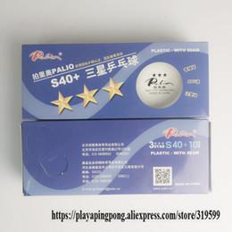 nouveau matériel d'abs Promotion Exclusif Palio 3-Star s40 + Balles de tennis de table 3 étoiles avec coutures Nouveau Matériel Billes ABS cousues Plastique PolyPong