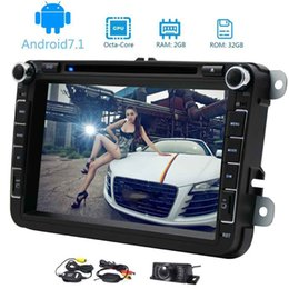 Wholesale wireless car parking camera - Eincar Wireless Rear View Camera for Parking+canbus+Android 7.1 Double Din 8 Inch In Dash Car Stereo Car Dvd Player Receiver Audio Video