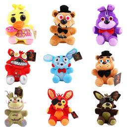 2019 lol плюшевые куклы 15-18cm Пять Ночи Freddy FNAF Куклы Мягкие игрушки Золотой Freddy fazbear Mangle лисичка медведя Бонни Чика Плюшевые куклы