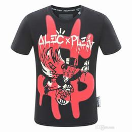Wholesale mens stripped shirts - Mens tshirt 2018 summer strip print men's t-shirt round neck tshirt luxury t-shirt