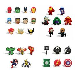 Adesivi magnetici magnetici online-Super Avengers Hot Cartoon Action Figure Magnete per frigorifero magnetico Magnete per frigorifero in PVC Adesivo per lavagna fredda Home / Decorazioni per auto Regalo per bambini