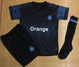 b998a2202 2018 19 Olympique De Marseille Away Maillot De Foot Kids Kit 2019 OM Soccer  Jersey PAYET MITROGLOU GERMAIN L.GUSTAVO THAUVIN Football Shirts