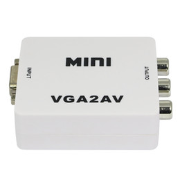 2019 usb adaptador de video tv Venta caliente Nuevo Mini Video Compuesto RCA a VGA Adaptador Convertidor para TV Caja NTSC PAL Salida HDMI a AV Adaptador con cable USB rebajas usb adaptador de video tv