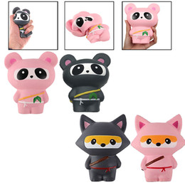 Wholesale Kawaii Panda - Kawaii Ninja Squishy Panda Slow Risinig Super Soft Jumbo Squeeze Phone Charms Stress Reliever Kids Gift