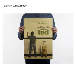 Wholesale Graphic Film Vinyl - COSY MOMENT Ted Universal Picture American comedy film Kraft Movie Poster Home Cafe Bar decoration Poster Wall stickers QT170