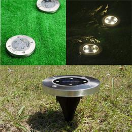Impermeabile Solar Powered LED Disk Lights 4 LED Outdoor Garden Scale Luci Lanterne portatili Escursioni campeggio Luci scale giardino da