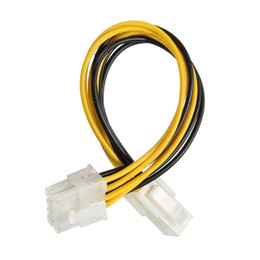 Wholesale ide convertor - Wholesale- New Arrival 4 Male Pin P4 to 8 Female Pin ATX EPS PC CPU Power Convertor Adapter Cable Connectors