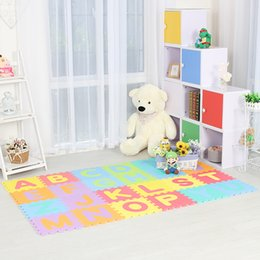 Wholesale Musical Play Mats - Infant Shining 26pcs Baby Play Mat Alphabet Children Climbing Pad Game Pad Household Living Room Puzzle Toy Soft Environmental