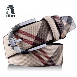 BBN Diseñadores de Lujo Marca de piel de Vaca Mujeres de Cuero Genuino Hebilla Cinturón para Hombre de Alta Calidad Ceinture Homme Feamle Blanco desde fabricantes