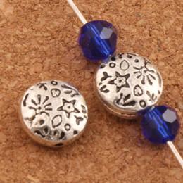 metallbefunde Rabatt 10mm Stern Blume geschnitzt Muster Runde flache Perlen Metall Spacer Ergebnisse Schmuckherstellung lose Perlen L580