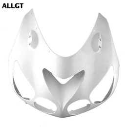 Wholesale zx14 fairings - ALLGT Motorcycle Upper Front Headlight Cowl Nose Fairing For Kawasaki Ninja ZX14R 2006 2007 2008 2009 2010 2011 Unpainted White ABS