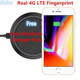 Wholesale Gps Charging - 2018 Christmas Gift Unlocked Goophone i8 Plus Free Wireless charging Real 4GLTE Fingerprint Quad Core 1920*1080 Mobile Phone Glass Back