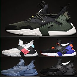 Wholesale Rose Springs - 2018Newest Air Huarache I Running Shoes For Men Women,Green White Black Rose Gold Sneakers Triple Huaraches Trainers huraches Sports Shoes56