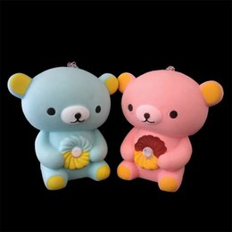 Wholesale r pendants - PU Kawaii Bear Squishies Decompression Toy Squishy Animal Shape Phone Straps Charm Pendant Kid Gift 13ck2 C R