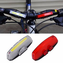 Wholesale 32mm led - 1 Set Bicycle Bike Front Rear Tail LED Light Mini Taillight USB Rechargeable Fits for 12-32mm handlebar Hot Sale