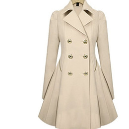Wholesale Woman Trenchcoat - Wholesale-2017 Especially Long Trench Coat for Women Double Breasted Slim Female Wind Breaker Outerwear Spring Autumn Trenchcoat JH829219