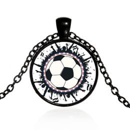 Wholesale Decoration Jewels - Fans time jewel pendant necklace 2018 Russian world cup alloy item decoration gift
