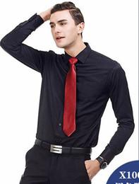 Ropa de negocios Camisas para hombre Camisas de manga larga más talla 38-48 útiles Camisa de vestir Color puro desde fabricantes