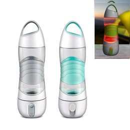 Wholesale Light Up Cups Wholesale - LED DIDI Smart Water Bottle Humidifier Sports Mug Cup 400ML Beauty Spay Cup Moisturizing Light Night Remind Drink Kettle SOS Emergency Cups