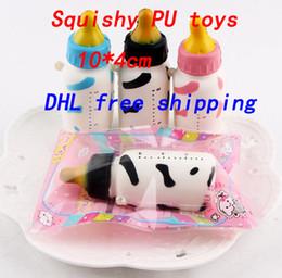 Wholesale mini kids mobile phone - kids Squishy PU toys soft bottle character creative mobile phone pendant fashion mini cake educational toys