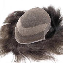 2019 pedaços de cabelo para homens Mens Toupee Cabelo Substituição Sistemas 100% Natural Cabelo Humano Livre Estilo Homens Cabelo Pieces 120% Densidade desconto pedaços de cabelo para homens