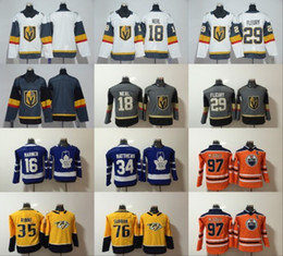 Wholesale Gold Leafs - 2018 Youth Vegas Golden Knights 29 Marc-Andre Fleury 18 James Neal Women Maple Leafs 34 Auston Matthews McDavid Marner Kids Hockey Jerseys