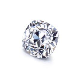 Антикварные бриллианты онлайн-6x6mm 1.0xt square cushion shape antique old mine cut EF white moissanites diamonds  for jewelry
