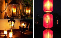 Wholesale Fire Projector - E27 B22 Led Flame Lamps Fire Effect Light Bulb E14 110V 220V Flickering Emulation flame Lights E12 E26 LEDs corn bulb New Year