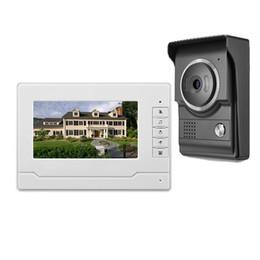 2019 système de sécurité de porte vidéo Interphone vidéo 7 pouces couleur TFT-LCD avec filaire Système de porte interphone Caméra vidéo IR Nuit pour système de sécurité pour système de bureau à domicile système de sécurité de porte vidéo pas cher