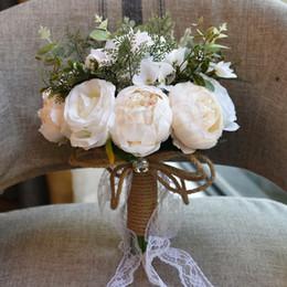2019 fiori di campagna artificiali 2019 Nuovi Pinterest Seta Fiori Country Bridal Holding Spilla Mazzi Foresta Artificiale Decorazione di cerimonia nuziale Bridesmaids Fiori CPA1540 fiori di campagna artificiali economici