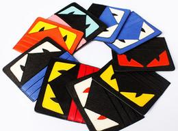 portafogli uomo nuovo stile Sconti Nuove donne di alta qualità @ uomini occhi progettista zero portafogli moda piccola borsa mostro di carta borse stile sottile super-sottile