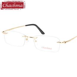 6e3f2500d765 Chashma Brand Top Quality Men Pure Titanium Glasses Ultra Light Frameless  Eyeglasses for Male Prescription Frames 53-17-138