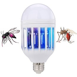 Wholesale Electric Mosquito Killer Lamp - 2018 NEW Hot Electric Mosquito Killer Bulb UV LED Bulbs Light Lighting Mosquito Control Dual-Purpose Lamp Switch Bulb LED Anti Mosquito Lamp