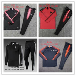 46ab1ecce8a Kids PSG tracksuit set 2018-2019 Juventus soccer jogging jacket MBAPPE  CAVANI DI MARIA VERRATTI RONALDO 18 19 Paris Football Training