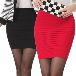 Wholesale free office package - Spring Summer Women High Waist Tight Office Skirt Slim Casual Package Hip Skirt Good Elastic Lady Mini Sexy Pencil Skirts