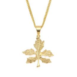 Попкорн онлайн-Модные Hiphop Gold Chains Классический Lucite 3D клен Лист цинкового сплава Листовые заводы Длинные винтажные ожерелья Попкорн Цепные эмалевые украшения
