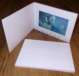 Tragbares Audio & Video Freies Verschiffen 7 Zoll Video Broschüre Hd Broschüre Universal Video Grußkarten Mode Design Video Werbung Karten