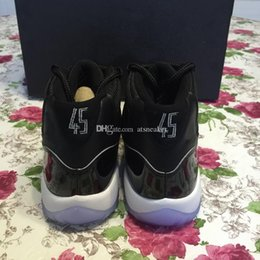 Wholesale Ups Tuning - Mens And Womens Looney Tunes 2016 High Quality 11 Space Jam Basketball Shoes Black Dark Concord-White 11s